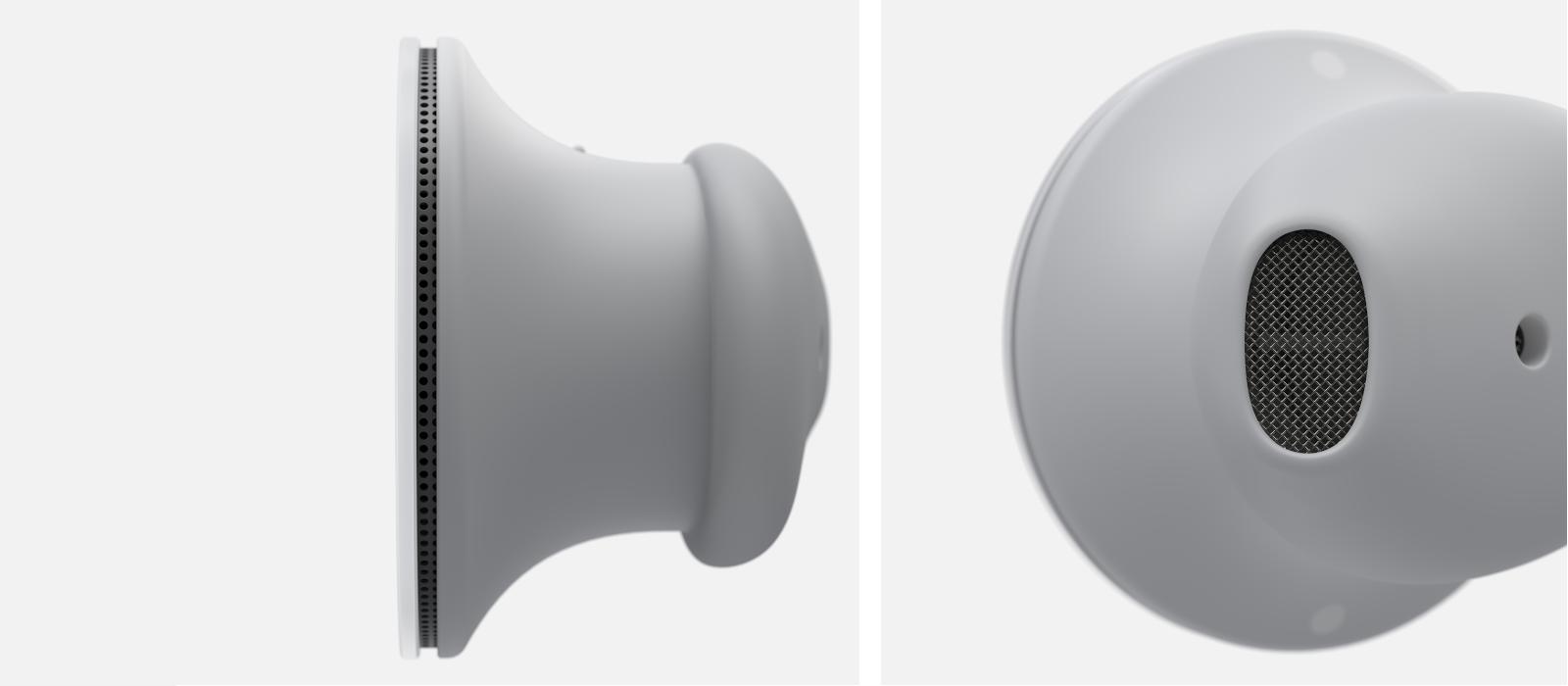 Eine Detailansicht der Surface Earbuds