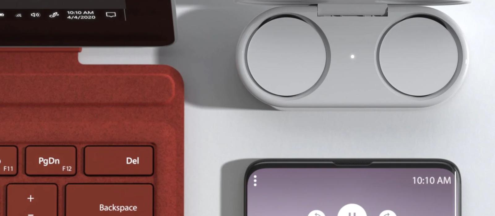 Die Surface Earbuds ergänzen das Zubehör der Surface Family.