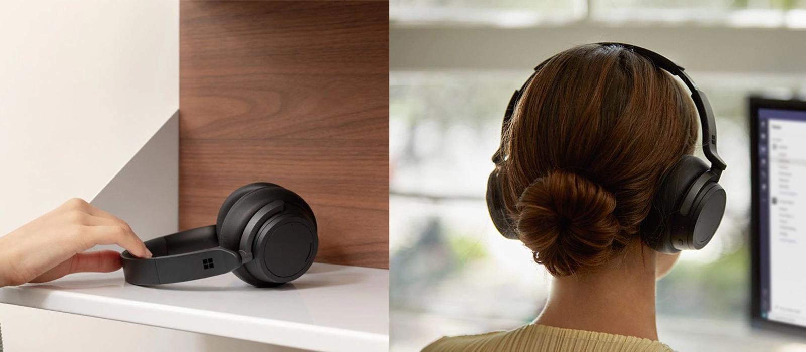 Die Surface Headphones 2 mit verschiedenen Bedienmöglichkeiten und ANC.