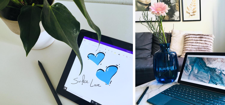 Das Surface Go ist in verschiedenen Modi zum arbeiten platziert
