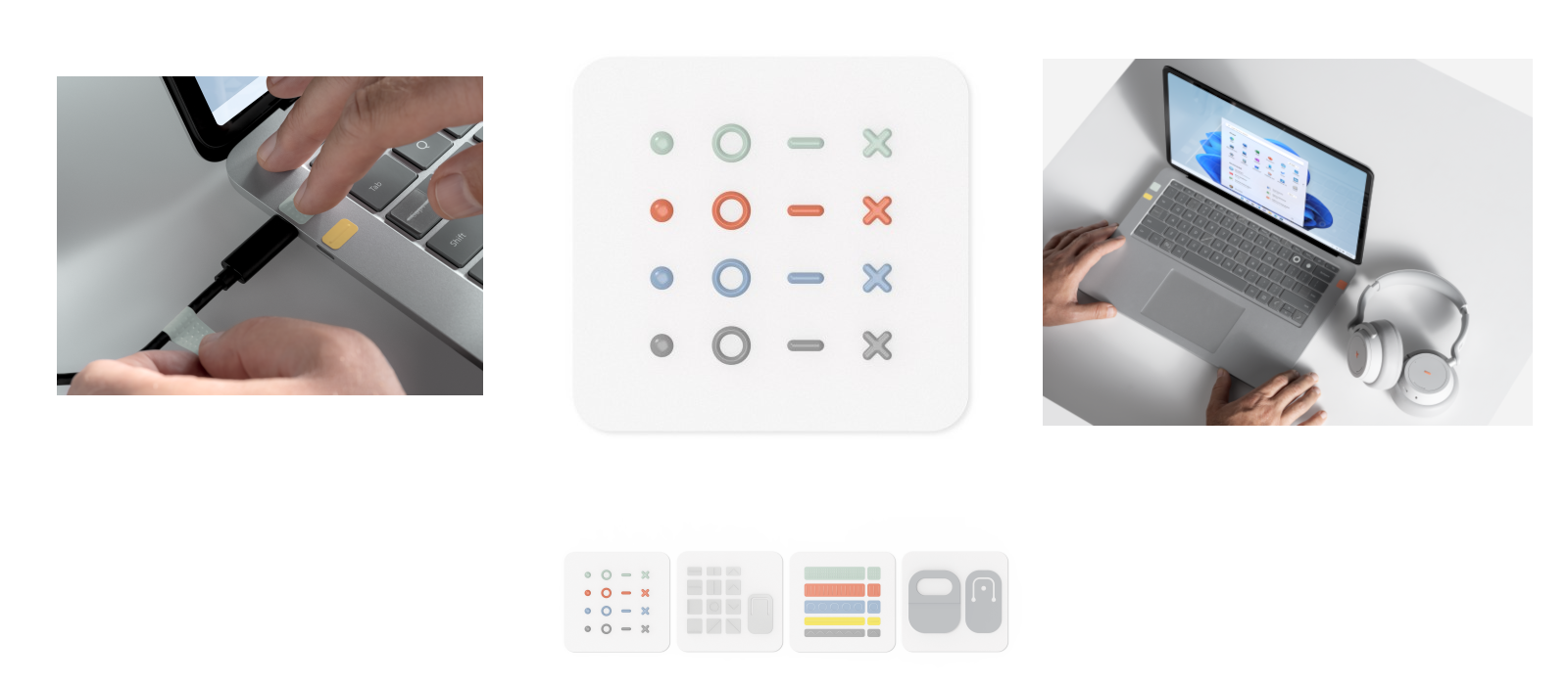 Different images show the Surface Adaptive Kit in detail and in use.