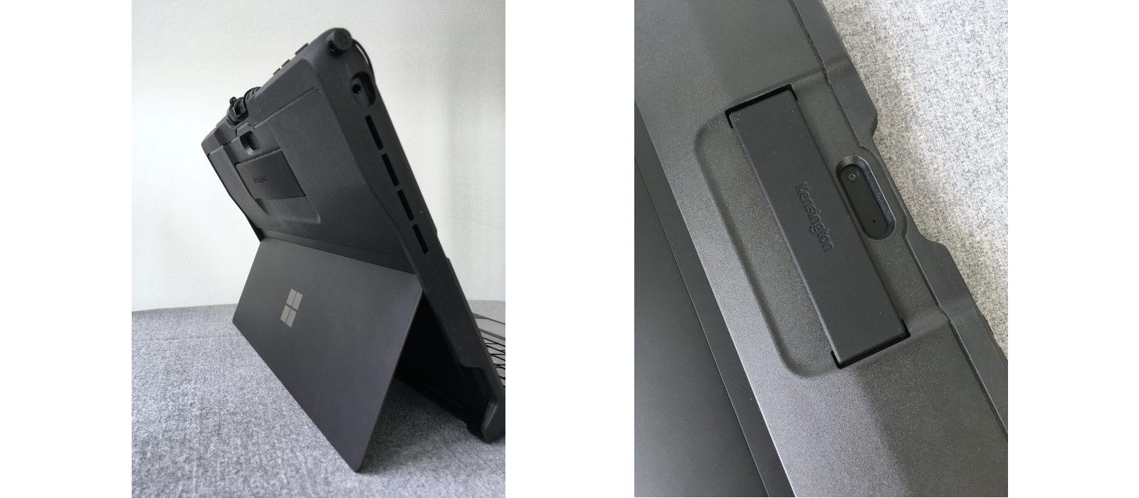 The Kensington® BlackBelt™ Rugged Case 2nd Degree for Surface Pro 7+/7/6/5/4 with Hand Strap