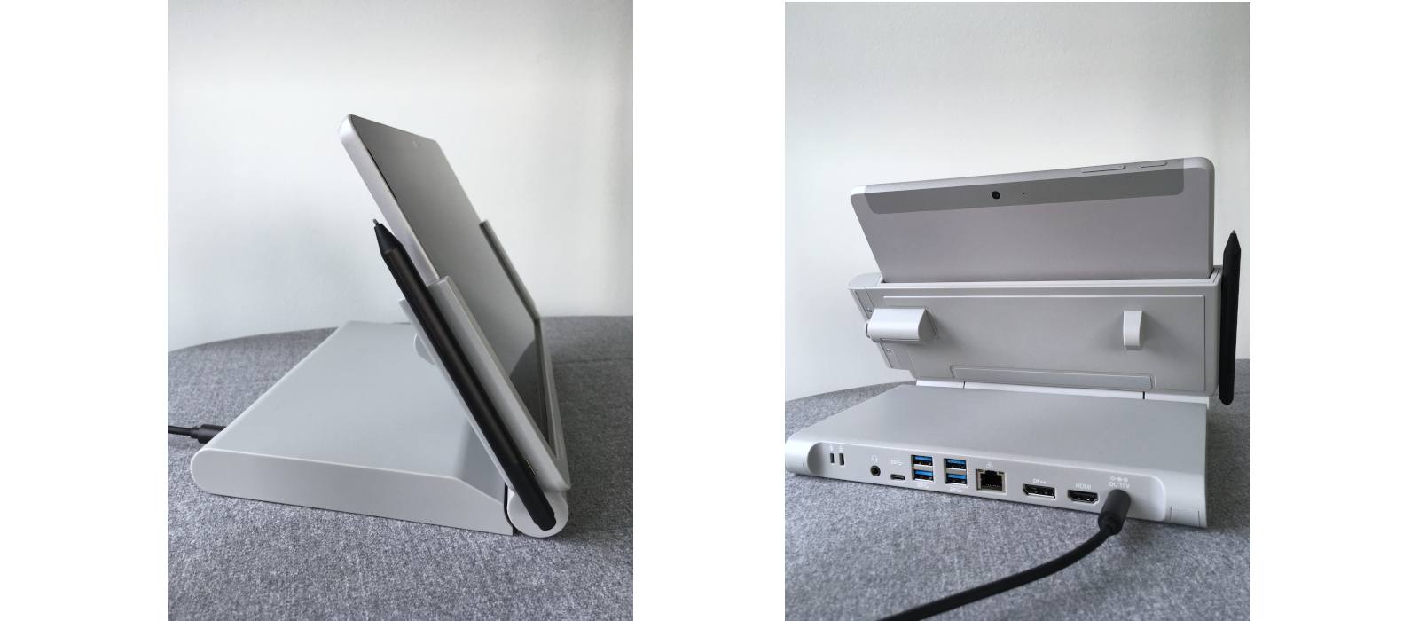 The Kensington® SD6000 Docking Station with the Surface Go and the various connection options